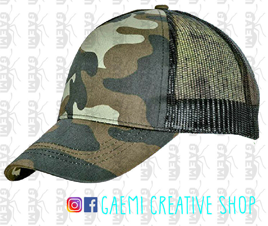 Gorra camuflaje camuflaje camuflaje rejilla transpirable caza pesca Airsoft Hat 393fe7