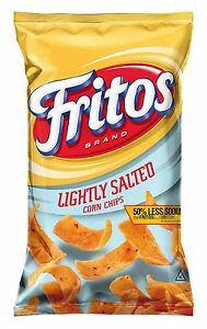 Fritos Corn Chips Lightly Salted 8 oz. (Pack of 1)