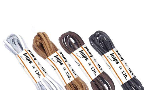 Schnürsenkel Schuhbänder echtes Leder Schuh 1 Paar mehrere Farben und Längen