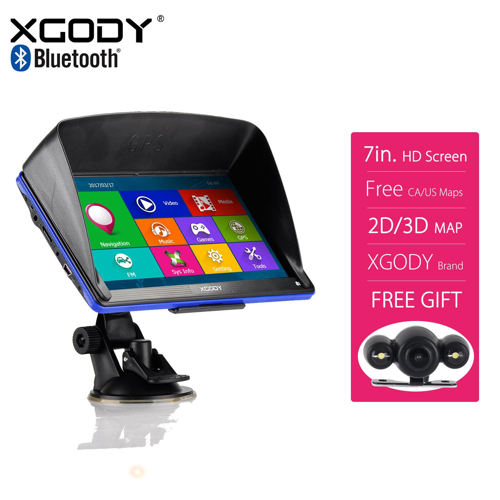 XGODY 886 7'' Auto Bluetooth GPS Navigation + Car Rear View Monitor Camera auto bluetooth camera car Featured gps monitor navigation rear view xgody