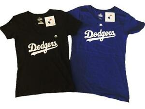 Womens Majestic Los Angeles LA Dodgers Black and White or Blue Baby ... 97971a92942