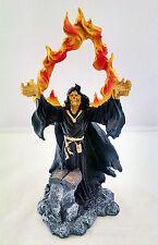 10 Inch Black Holy Death Fire Statue La Santisima Muerte Santa Grim Reaper Skull