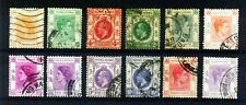 Hong Kong 12 Different Pre 1954 Old, Used K.G. VI & Queen Elizabeth-II