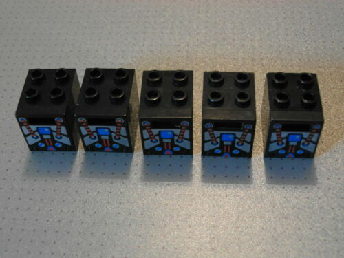 Lego Post 4345 4346 5 Black /& Spyrius Container Mail Boxes 2x2x2