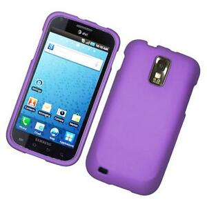 Purple-Rubberized-HARD-Case-Phone-Cover-T-Mobile-Samsung-Galaxy-S-II-2-S2-T989