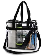 Clear Tote Bag Handbag Crystal PVC Women Transparent NFL Stadium Approved US