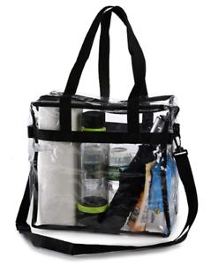 Clear-Tote-Bag-Transparent-Backpack-Purse-Shoulder-Handbag-NFL-Stadium-Approved