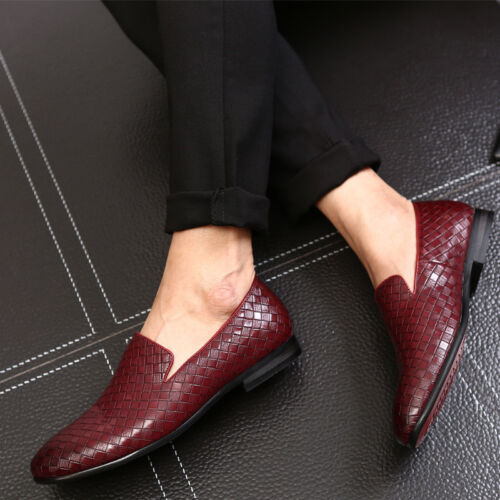 Homme en Cuir Mocassins Casual Business Robe formelle Comfy mariage Derbies Chaussures W9