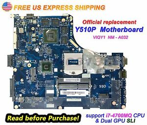 New-Lenovo-Ideapad-Y510P-20217-VIQY1-NM-A032-N14P-GT1-A2-GT755M-2GB-Motherboard