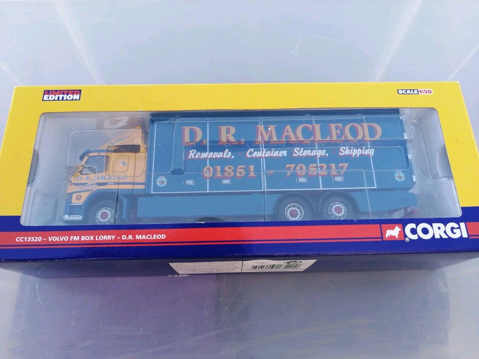 Corgi cc13520 Volvo fm box lorry D, R, MACLEOD