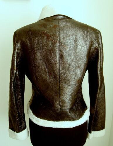 Sheepskin Flying Ladies' Jacket M Aviator Brown Dark Size 3025 6wBUqH