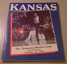 KU Jayhawk Basketball Program - Tennessee Martin Nov 29, 1986