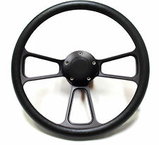 Muscle Car Steering Wheel + Adapter for GM, Ididit Column Black Billet Full Kit