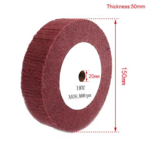 "4/""-12/"" Non-woven Abrasive Flap Grinding Wheel Metal Polishing Tool 180//320 Grit"