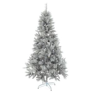 6ft/7ft Silver Mixed Pine Artificial Christmas Tree Silver Glitter ...