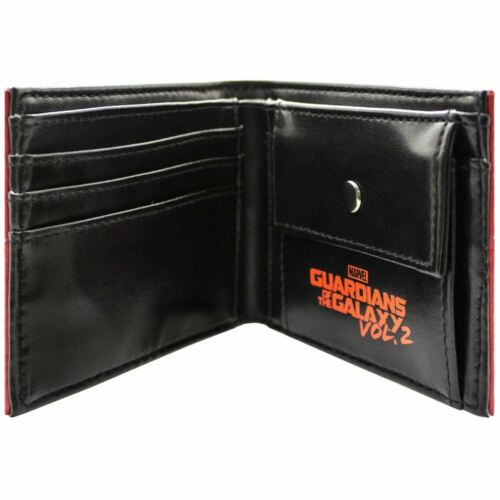 2 SUIT UP HEROES RED BI-FOLD WALLET NEW OFFICIAL GUARDIANS OF THE GALAXY VOL