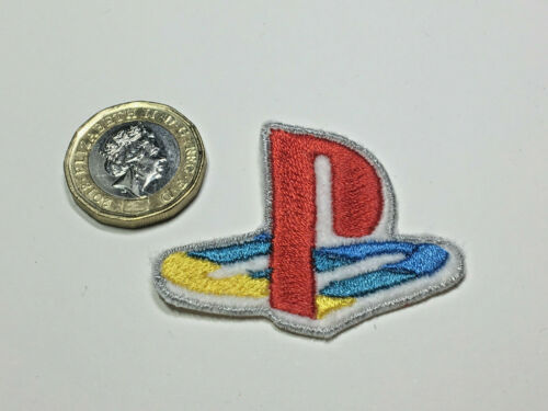Playstation One 1 Logo Retro Embroidered Iron On Sew On Patches Badges UK