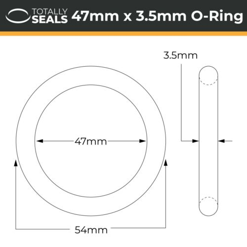 54mm Außendurchmesser O-Ringe Nitril Gummi 70A Ufer Metrisch Siegel mm