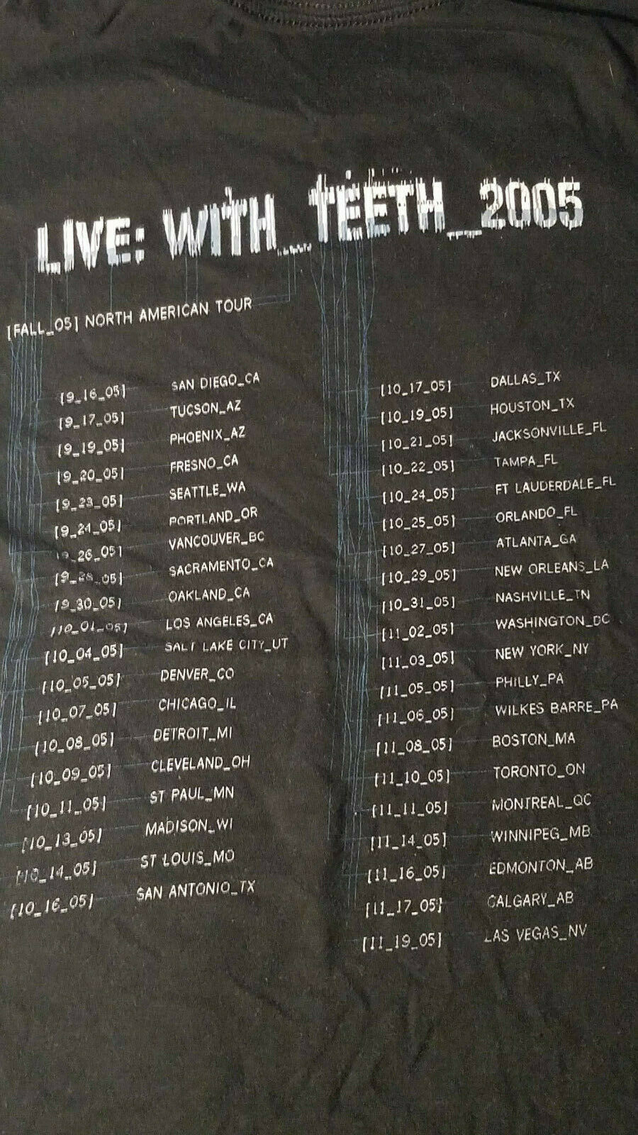 Nine Inch Nail Concert Tour Live With Teeth 2005 … - image 3