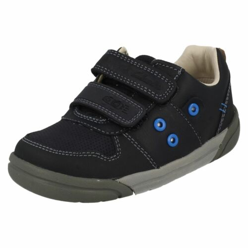 Boys Clarks azul Lilfolk Casual Pop Navy Shoes 766dw