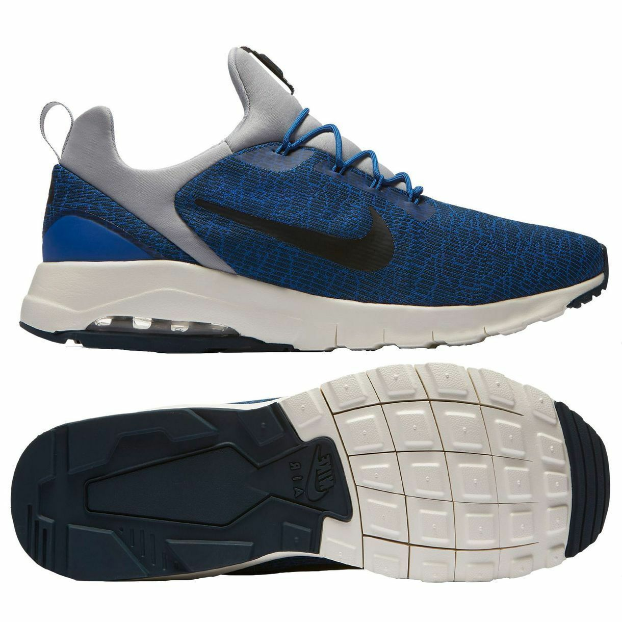 NIB Men's Nike Air Max Motion Racer Casual Shoes, 916771 400 Blue/Black Sz 11 Comfortable and good-looking