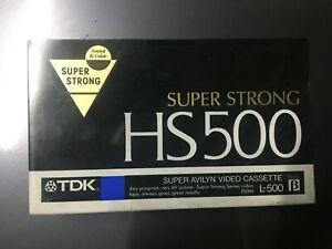 TDK-HS500-Super-Avilyn-Video-Cassette-L-500-BETA-NOS