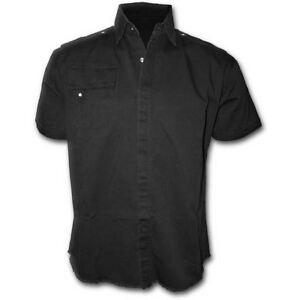 Spiral-Direct-Metal-Streetwear-Black-Gothic-Rock-Short-Sleeved-Workshirt