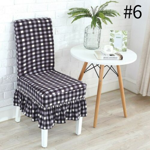 1PC Chair Cover Spandex Stretch Wedding Hotel Slipcover Dinning Room Protector