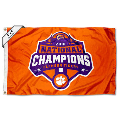 College Flags and Banners Co Clemson Tigers 2018 Football National Champions Pennant