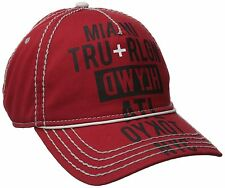NEW TRUE RELIGION MEN'S CLASSIC BASEBALL TRUCKER HAT CAP TOUR CITIES RED TR1952