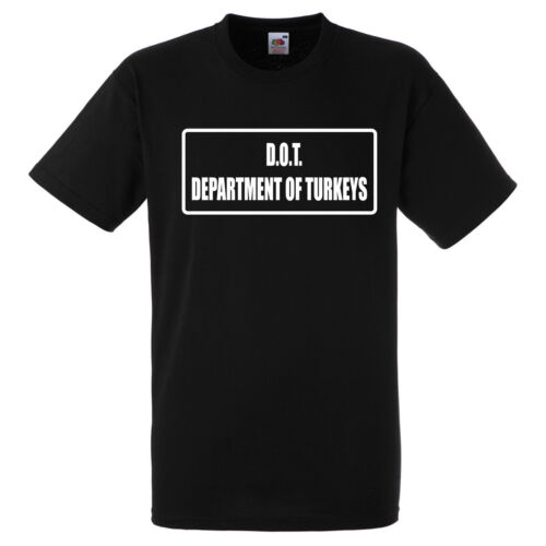 DEPARTMENT OF TURKEYS  T SHIRT BIKER GANG STYLE FUNNY