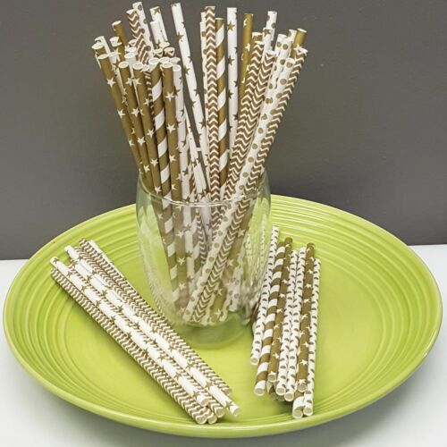 Variety Sets of 100-125 Paper Straws Birthday Wedding Baby Shower Party PSHC1