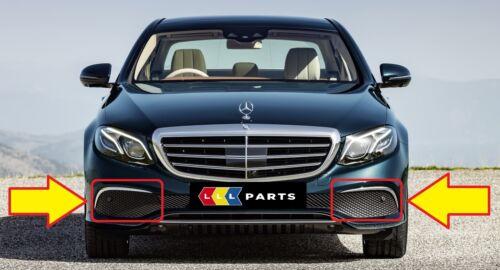 Nuevo Genuino Mercedes Benz MB E W213 de lujo Parachoques Delantero Parrilla Inferior Set Par