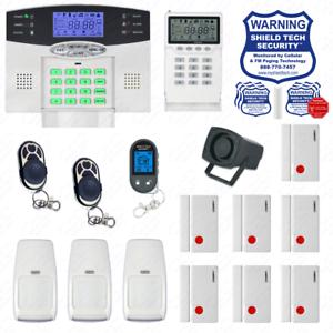 Hágalo usted mismo sistema de seguridad para el hogar inalámbrica LCD Indicador de voz inteligente de alarma antirrobo Casa Fl