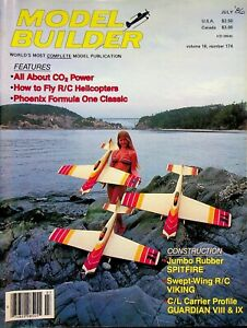 Model Builder Magazine July 1986 Co2 Power & How to Fly R/C Helicopters   m981