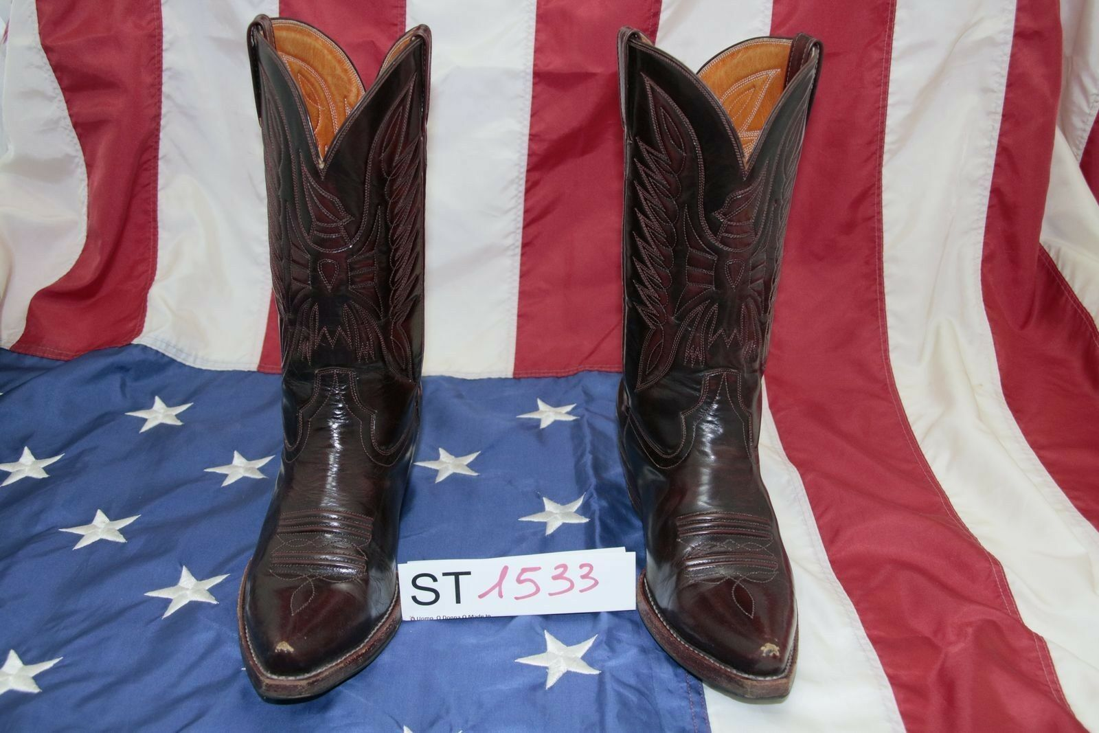 Stivali N.45 Country (Cod. ST1533) Boots Western Country N.45 Cowboy bikers Uomo usato bf3aa6
