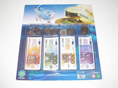 LOT 10 SET DINETTE MARCHANDE BILLET MONNAIE EURO PIECES JEU