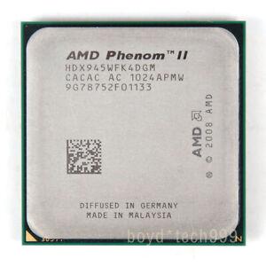 Amd Phenom Ii X4 945 Cpu Processor Hdx945wfk4dgm 3 Ghz 667 Mhz Socket Am3 789398906261 Ebay