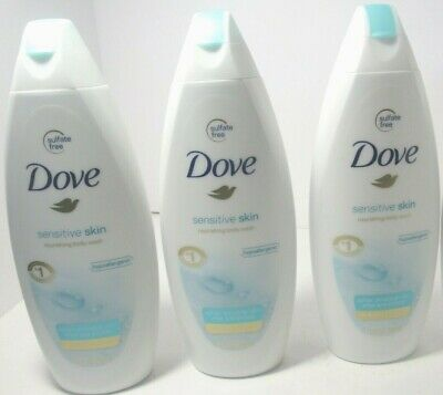 Dove Nourishing Body Wash For Sensitive Skin Unscented 12 Oz 3 Pack 11111122123 Ebay