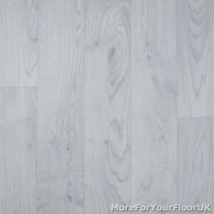 Light Grey Wood Style Vinyl Flooring Kitchen Bathroom R10