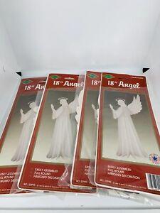 Vintage-Beistle-1988-18-Angel-Hanging-Christmas-Decor-Lot-Of-4