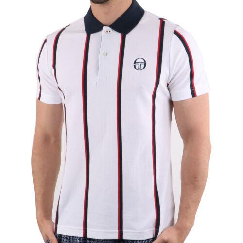 Sergio Tacchini Mens Enforcer Striped Polo Shirt