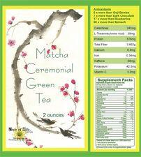 Matcha Imperial Ceremoial Green Tea Powder 2oz Organic