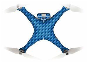Wrap/Skin For DJI Phantom 3 Quadcopter/Drone | Blue Carbon