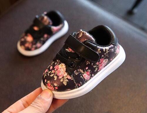 Cute Baby Shoes For Girls Soft Moccasins Shoe 2018 Spring Black Flower Baby Girl