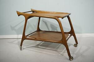 Vintage-Ico-Parisi-Bar-wagen-Trolley-Cart-Teak-Danish-Design-Midcentury-50s-60s