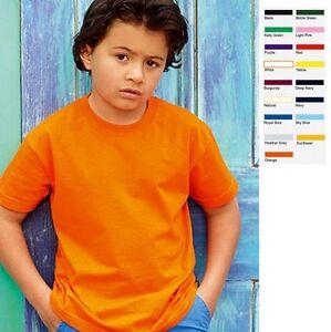 Fruit-of-the-loom-Kinder-T-Shirt-Valueweight-Kids-Junge-Maedchen-Shirt-Value