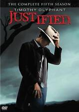 Justified: The Complete Fifth Season (DVD, 2014, 3-Disc Set) DISC IS MINT
