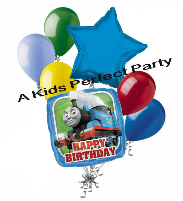 Thomas the Train Party Supplies 3rd Birthday Sing A Tune Tank Engine Balloon Bouquet Decorations