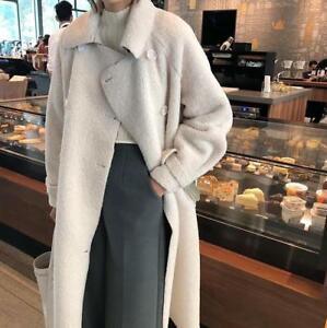 d'hiver coréen Manteau long Parka pour fourrure fausse femme chaud en d'agneau v6xqvd8w